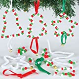 Kits Décorations en perles pour sapin de Noël que les enfants pourront fabriquer et suspendre (Lot de 6)...