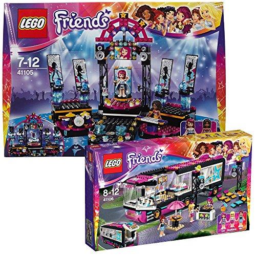 Lego Friends 2-tlg Set 41105 41106 Popstars!