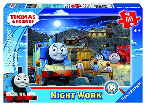 Thomas & Friends Night Work Glow-in-The-Dark Puzzle, 60-Piece