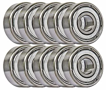 10 Bearing 5x10 Shielded 5x10x4 Miniature Ball Bearings