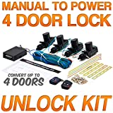 Biltek® Universal Central Door Lock and Unlock Conversion Kit for 2, 3, 4 car truck doors 4 actuators