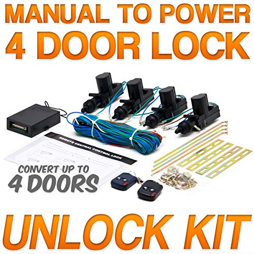Biltek® Universal Central Door Lock and Unlock Conversion Kit for 2, 3, 4 car truck doors 4 actuators (Remote Unlock Door compare prices)