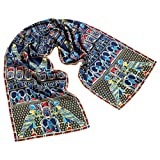 Egyptian Falcon Blue Scarf
