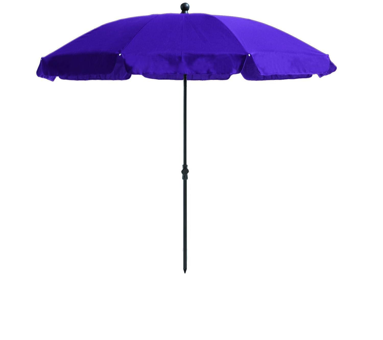 """Absolut wetterfester Gartenschirm""""Cyprus 200″ von Madison mit UV-Schutz 40 Plus, Farbe lila, höhenverstellbar online kaufen"""