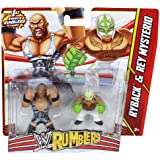 WWE Rumblers Ryback and Rey Mysterio Action Figure, 2-Pack