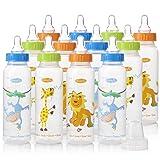 Evenflo Zoo Friends Bottle, 8oz 12 Pack