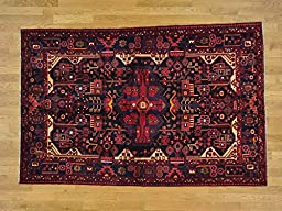 5\'x8\' Persian Nahavand Full Pile Hand Knotted Oriental Rug G24495