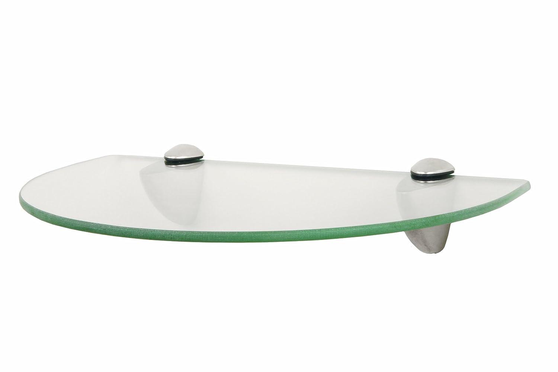 sterling kt 0134 812sn curved glass shelf kit satin