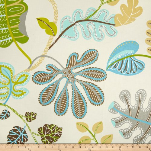 Waverly A New Leaf Sateen Meadow Fabric front-477263