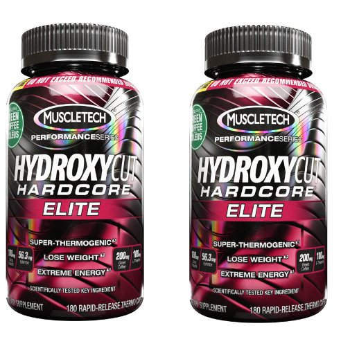 Hydroxycut Hardcore Elite - Svetol Green Coffee Bean Extract Formula, 360 Rap...