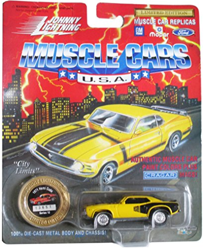 johnny lightning muscle cars u.s.a. yellow 1971 hemi cuda series 10 1994 - 1
