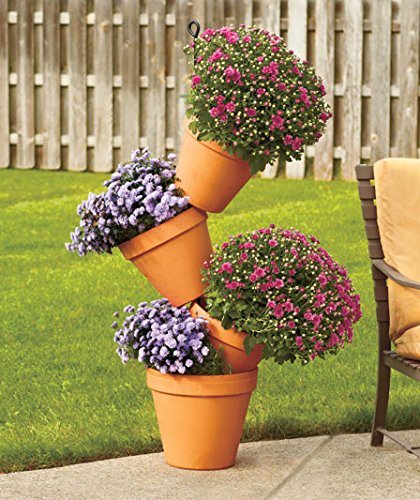 4 Foot Tipsy Tower Plant Flower Stand Porch Patio Deck