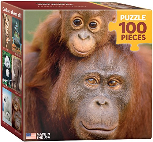 EuroGraphics Orangutan and Baby Mini Puzzle (100-Piece)