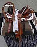 "13"" New Tan Show Leather Western Saddle Package"