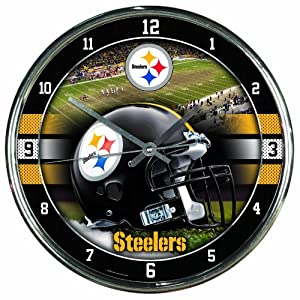 NFL Pittsburgh Steelers Chrome Clock by WinCraft