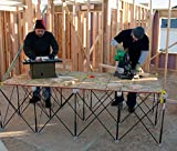 Centipede XL Compact Portable Table Support expands from 9 by 14 inches to 4 by 8 foot! Work bench Miter saw sawhorse