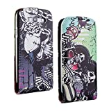 SuperStore_Electronics(TM) Stylish Printing Retro Style Durable Slim-Fit Flip PU Leather Protective Defense Stand Case Cover Compatible For Samsung i9300 Galaxy S3 III (melanic skull)