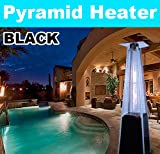 New MTN Deluxe Pyramid Outdoor Patio Flame Gas Propone Heater 40000 BTU Black