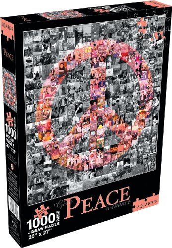 Cheap Aquarius Give Peace a Chance 1000 Piece Jigsaw Puzzle (B002WVD3HM)