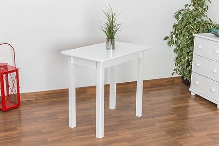 Kuchentisch 50x80 cm Kiefer massiv, Farbe: Weiß