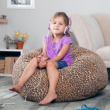Giraffe Print Gold Medal Bean Bags 30008464920 Small Suede Collection Bean Bag for Children