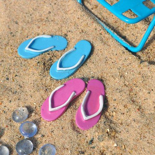Miniature Fairy Garden Beach Flip Flops, Set of 2
