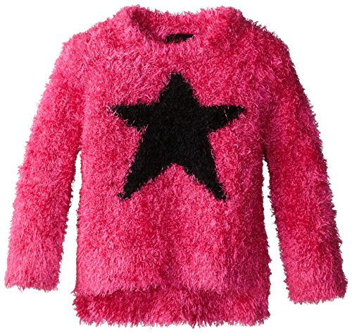 Girls Rule Little Girls' Star Intarsia Sweater with Sequins