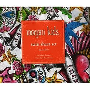 Amazon.com: Tattoo Rock Peace Love Twin Sheet Set Multi-Color by ...