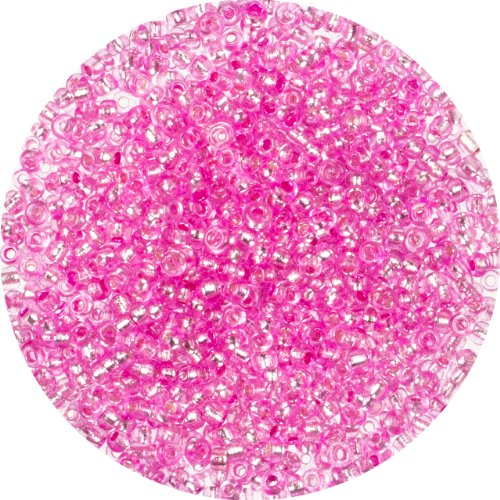 Cousin Jewelry Basics 40G/1.41-Ounce Pink Silver Lined 11/0 Seed Beads