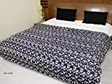 AURAVE Abstract Printed Wave Duvet Cover/Quilt Cover - Black - Single