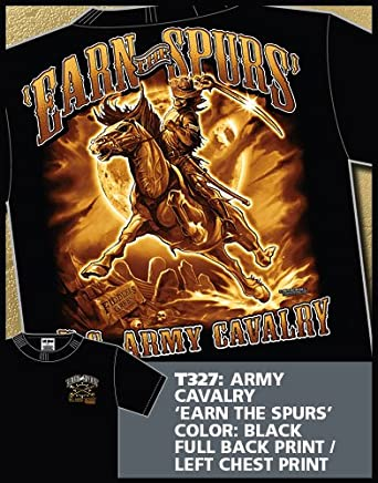 """Army Cavalry """"Earn the Spurs"""" T-Shirt (2X-LARGE)"""