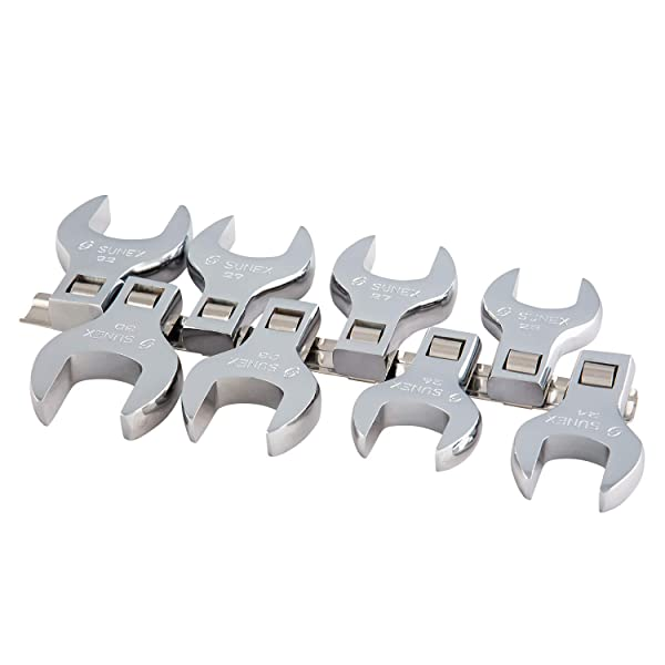 Sunex 9730A 8 Piece 1/2 Dr. Jumbo Metric Crowfoot Wrench Set CRV (Tamaño: Metric)