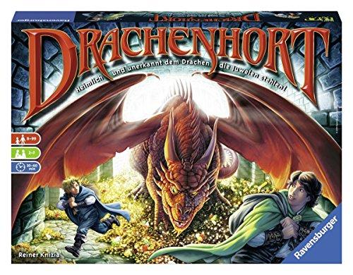 """Ravensburger 26653 - Gioco in scatola """"Drachenhort"""" (Roccaforte dei draghi) [lingua tedesca]"""