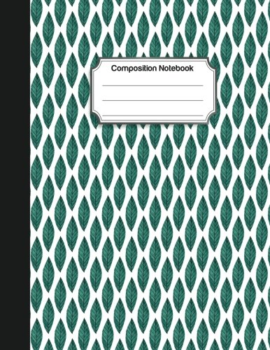 Composition Notebook Green leave watercolor pattern  College Ruled School Notebooks, Composition Notebook, Subject Daily Journal Notebook  120 Lined Pages (Large, 8.5 x 11 in.) [journal, audrey] (Tapa Blanda)
