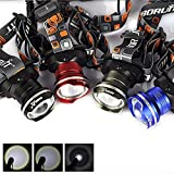 Outdoor 2000 Lumens 3 Modes CREE XM-L T6 Zoomable LED Headlamp Camping Hiking Headlight (Black)