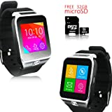 Indigi NEW SmartWatch&Phone WiFi+Bluetooth+Sleep Monitor - Free 32gb SD