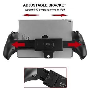 Bigaint PG-9023 Bluetooth Controller, Telescopic Wireless Bluetooth Game Controller Gamepad for Android, Samsung, Win PC - Black (Color: Black, Tamaño: PG-9023)