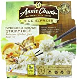Annie Chuns Rice Express Sprouted Brown Sticky Rice, 6.3-Ounce Microwavable Bowls (Pack of 6)