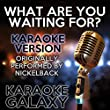 What Are You Waiting for? (Karaoke Version with Backing Vocals) (Originally Performed By Nickelback)