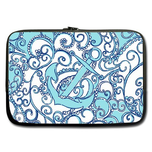 Special Design Blue Anchor Octopus Tentacles Sleeve For Macbook Pro / Sleeve For Laptop / Notebook Computer / Macbook / Macbook Air 13'' front-198615