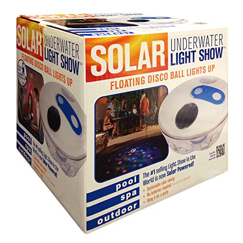 Blue wave na4135 solar underwater light show floating pool for Pool light show waikiki