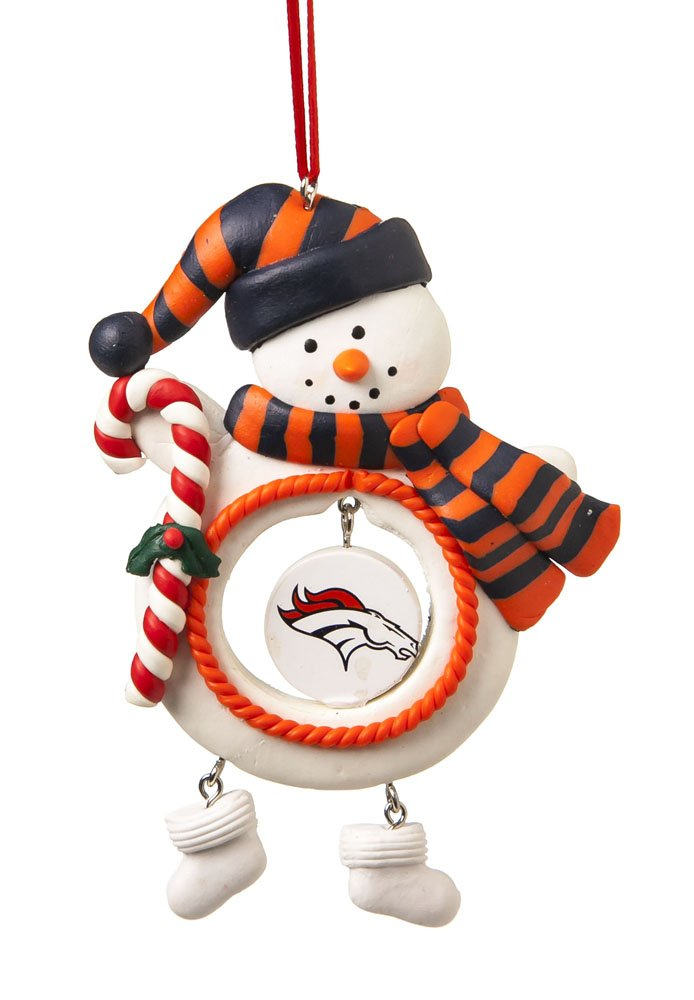 Amazon.com : NFL Denver Broncos Football Gingerbread House Glass ...