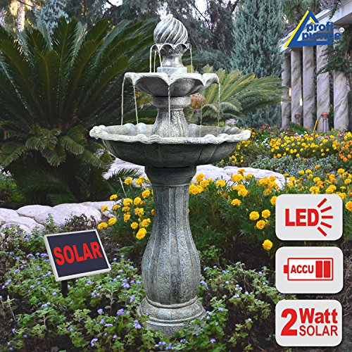 gartenbrunnen brunnen solar brunnen zierbrunnen vogelbad wasserfall gartenleuchte teichpumpe. Black Bedroom Furniture Sets. Home Design Ideas
