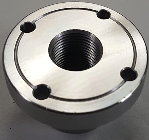 2 Steel Wood Lathe Face Plate, 3/4 x 16tpi Threaded
