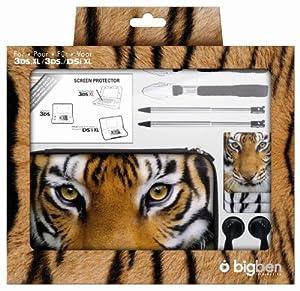 pack accessoires pour nintendo 3ds xl d cor tigre. Black Bedroom Furniture Sets. Home Design Ideas
