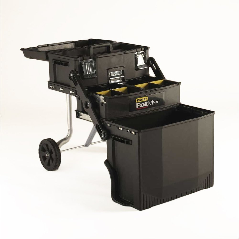 Mobile work station tools storage telescopic handle rolling wheels cabinet latch ebay - The mobile office working on two wheels ...
