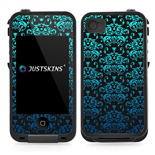 Aqua Blue Ombre Damask Skin Decal for Lifeproof iPhone 4/4S Case (Case not included) (Iphone 4 Lifeproof Case Blue compare prices)