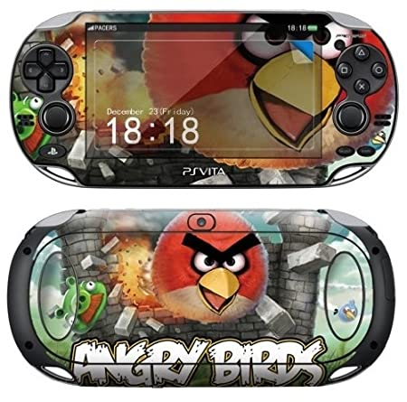 Sony PS Vita ANGRY BIRDS Protective Vinyl Skin Decal Set