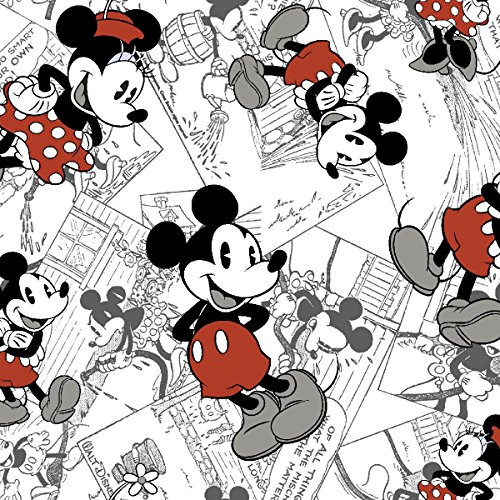 Springs Creative Disney-Vintage Mickey 43/44-Inch Wide 100-Percent Cotton Comic Strip Character Toss Fabric, 15-Yard