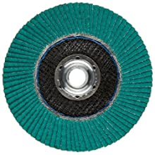 "3M Flap Disc 577F, T29, Alumina Zirconia, Dry/Wet, 4-1/2"" Diameter, 80 Grit, 5/8""-11 Thread Size (Pack of 1)"